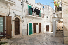 alleyway Noci Puglia Italië Royalty-vrije Stock Fotografie