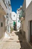 alleyway Noci Puglia Italy Fotografia de Stock