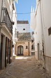 Alleyway. Noci. Puglia. Italy. Royalty Free Stock Images