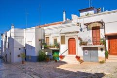Alleyway. Noci. Puglia. Italy. Royalty Free Stock Photos