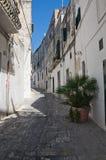 Alleyway. Oria. La Puglia. L'Italia. Fotografia Stock Libera da Diritti