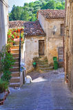 alleyway Oriolo La Calabria L'Italia Fotografia Stock Libera da Diritti