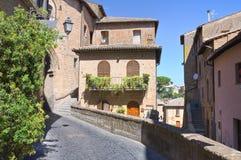 Alleyway. Orvieto. Umbria. Italy. Stock Photography