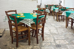 alleyway Ostuni La Puglia L'Italia Fotografia Stock
