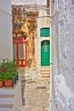 alleyway Ostuni La Puglia L'Italia Immagine Stock