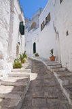 Alleyway. Ostuni. Puglia. Italy. Royalty Free Stock Image
