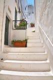Alleyway. Ostuni. Puglia. Italy. Stock Photo
