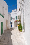 Alleyway. Ostuni. Puglia. Italy. Royalty Free Stock Images