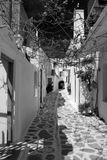 Alleyway in Paroikia, Paros Fotografia Stock