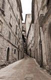 Alleyway. Perugia. L'Umbria. Fotografie Stock Libere da Diritti