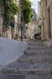 Alleyway. Peschici. La Puglia. L'Italia. Fotografia Stock