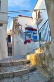 Alleyway. Peschici. La Puglia. L'Italia. Fotografia Stock Libera da Diritti