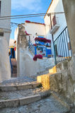 Alleyway. Peschici. Puglia. Italy. Royalty Free Stock Photography