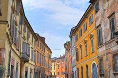 Alleyway. Piacenza. Emilia-Romagna. Italy. Royalty Free Stock Images