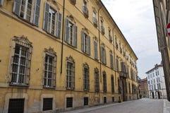 Alleyway. Piacenza. L'Emilia Romagna. L'Italia. Immagine Stock Libera da Diritti