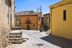 alleyway Pietragalla Basilicata Italië stock foto's