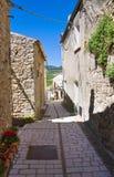 Alleyway. Pietramontecorvino. La Puglia. L'Italia. Fotografia Stock