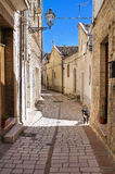 Alleyway. Pietramontecorvino. Puglia. Italy. Stock Photography