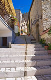 Alleyway. Pietramontecorvino. Puglia. Italy. Royalty Free Stock Image