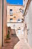 Alleyway. Polignano a mare. Puglia. Italy Royalty Free Stock Photography