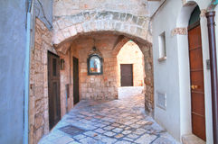 Alleyway. Polignano a mare. Puglia. Italy Royalty Free Stock Photo
