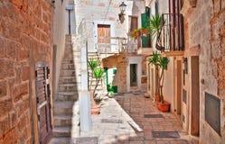 Alleyway. Polignano a mare. Puglia. Italy. Alleyway of Polignano a mare. Puglia. Italy stock photos
