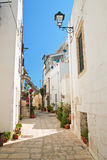Alleyway. Polignano a mare. Puglia. Italy. Royalty Free Stock Photography