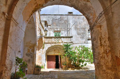 Alleyway. Presicce. Puglia. Italy. Alleyway of Presicce. Puglia. Italy stock photo