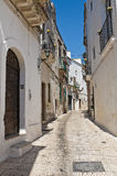 Alleyway of Puglia. Italy. Stock Photos