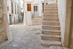 alleyway Putignano Puglia Italia Fotos de archivo libres de regalías