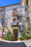 Alleyway. Rocca Imperiale. Calabria. Italy. Royalty Free Stock Photo