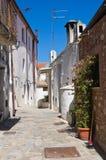 alleyway Rocca Imperiale La Calabria L'Italia Immagini Stock Libere da Diritti