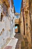 alleyway Rocca Imperiale La Calabria L'Italia Immagine Stock