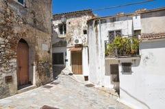 alleyway Rocca Imperiale La Calabria L'Italia Immagine Stock Libera da Diritti