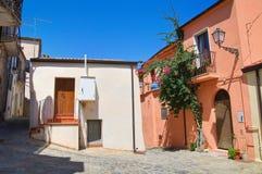 alleyway Rocca Imperiale La Calabria L'Italia Fotografie Stock Libere da Diritti