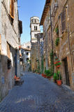 Alleyway. Ronciglione. Lazio. Italy. Stock Photography