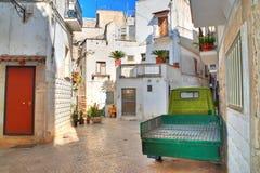 alleyway Rutigliano Puglia Italië royalty-vrije stock afbeeldingen