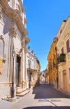 alleyway San Severo La Puglia L'Italia Fotografie Stock Libere da Diritti