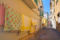 alleyway San Severo Puglia Italië stock afbeeldingen