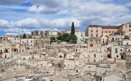 alleyway Sassi di Matera La Basilicata Fotografia Stock Libera da Diritti