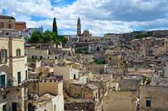 alleyway Sassi di Matera La Basilicata L'Italia Fotografie Stock Libere da Diritti