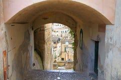 alleyway Sassi di Matera La Basilicata L'Italia Immagini Stock
