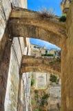 alleyway Sassi di Matera La Basilicata L'Italia Fotografia Stock Libera da Diritti