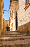 alleyway Sassi di Matera La Basilicata L'Italia Immagini Stock Libere da Diritti