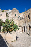 Alleyway. Sassi of Matera. Basilicata. Italy. Stock Photography
