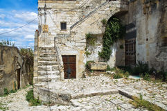 Alleyway. Sassi of Matera. Basilicata. Italy. Royalty Free Stock Photography
