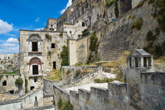 Alleyway. Sassi of Matera. Basilicata. Italy. Royalty Free Stock Images