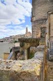 alleyway Sassi van Matera Basilicata Italië royalty-vrije stock fotografie