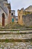 alleyway Sassi van Matera Basilicata Italië stock foto