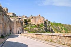 alleyway Sassi van Matera Basilicata Italië stock fotografie